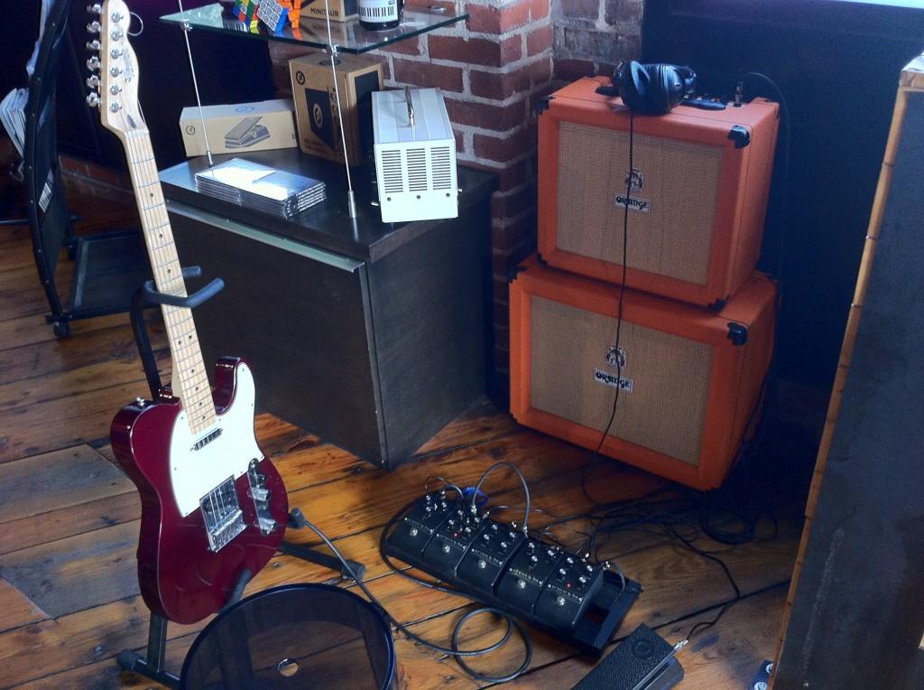 Moog guitar pedal setup
