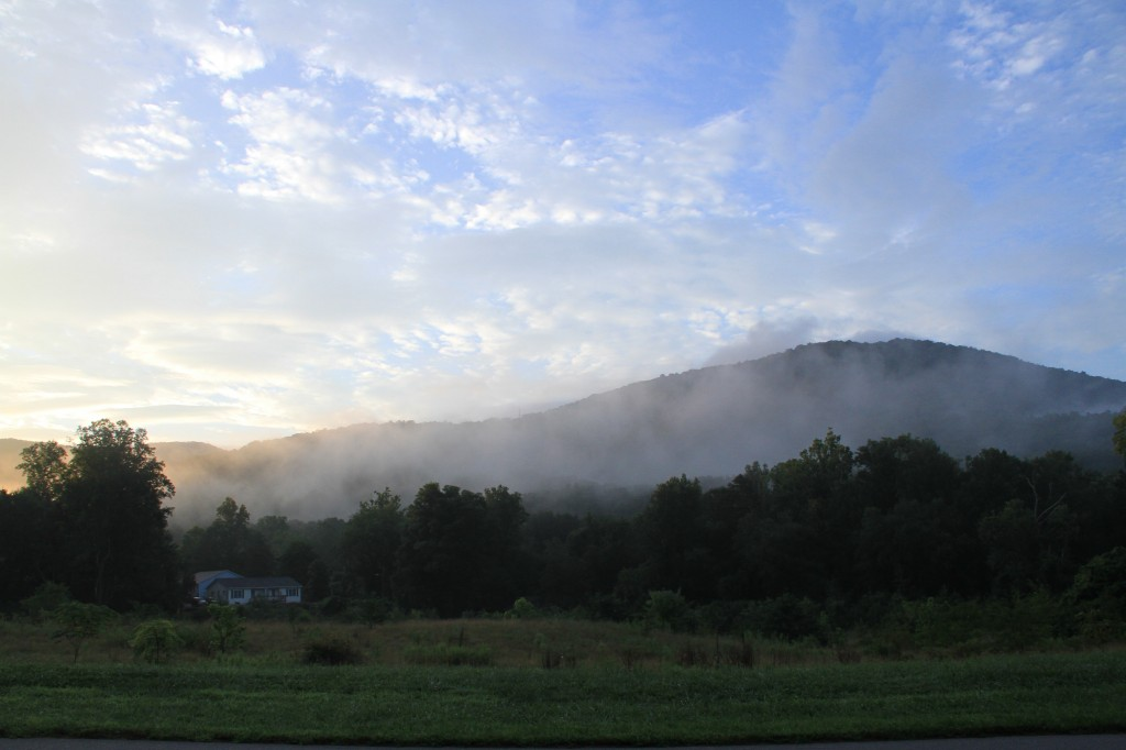 Morning fog outside of Asheville