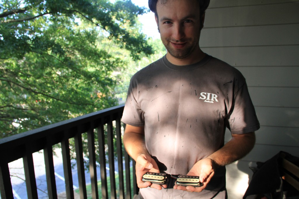 Reid and his handmade SG pickups
